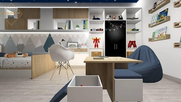 Remodelación dormitorio infantil: Dormitorios infantiles  de estilo  por Lucero Pardo M. - Diseñadora de Interiores,