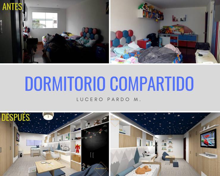 Remodelación dormitorio infantil: Cuartos para bebés de estilo  por Lucero Pardo M. - Diseñadora de Interiores,