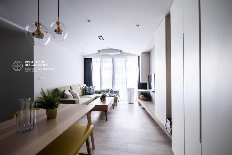 築本國際設計有限公司が手掛けたリビング, 北欧