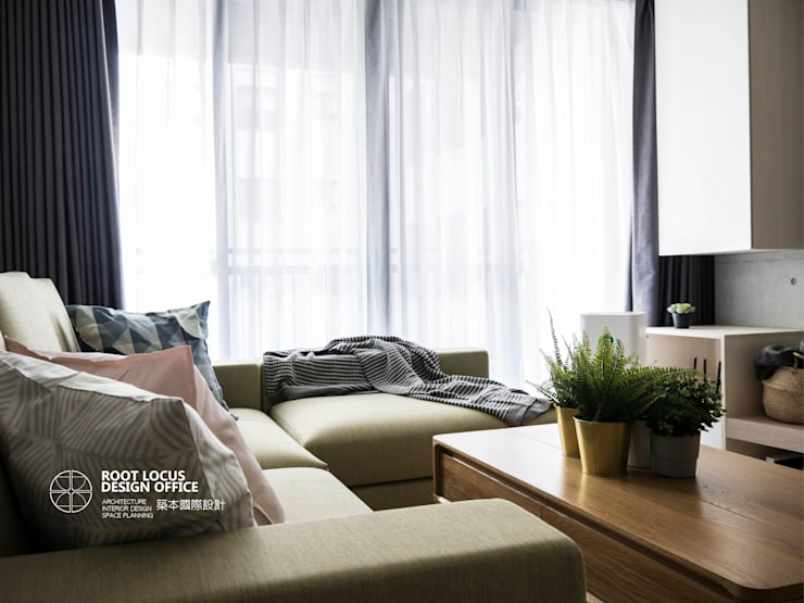 Salones de estilo  de 築本國際設計有限公司, Escandinavo