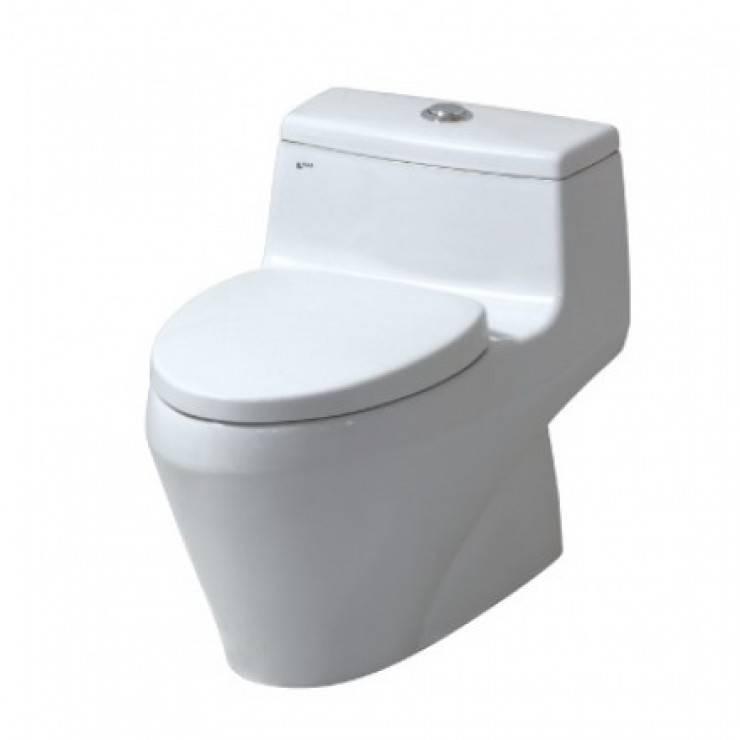 Bồn Cầu INAX AC-1035VN 1 Khối Nắp Êm Aqua Ceramic mua ở đâu ?:  Bathroom by Thiet bi nha tam