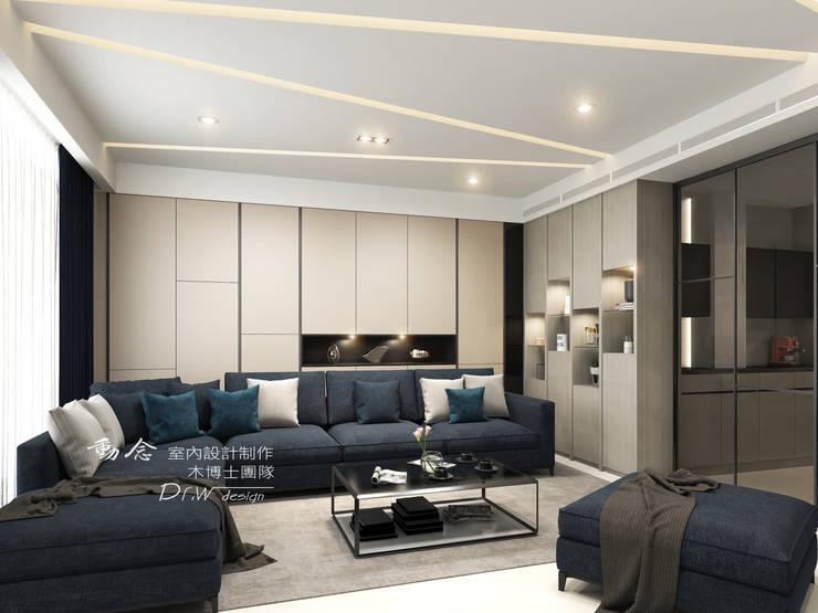 客廳:  客廳 by 木博士團隊/動念室內設計制作