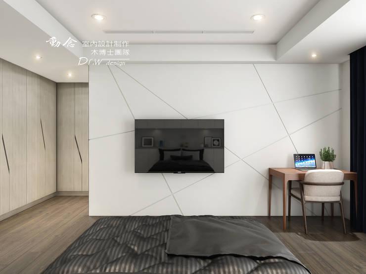 Chambre de style  par 木博士團隊/動念室內設計制作,