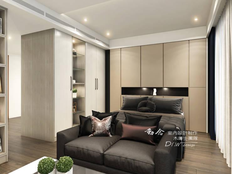 臥室:  臥室 by 木博士團隊/動念室內設計制作