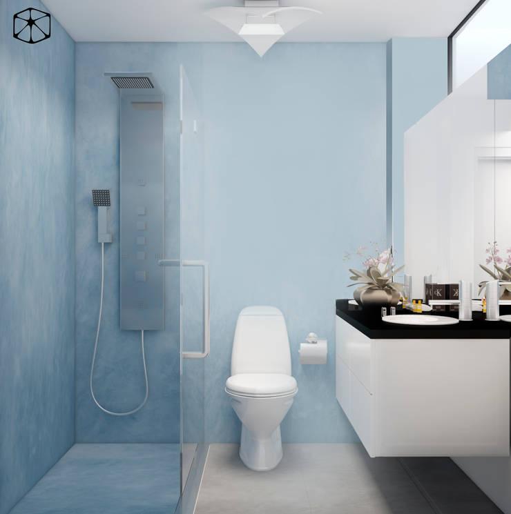 BAÑO ADOLESCENTES: Baños de estilo  por STUDIO ZINKIN, Ecléctico Concreto