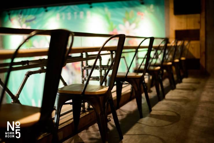 MEGA 美式風格餐廳設計:  餐廳 by NO5WorkRoom