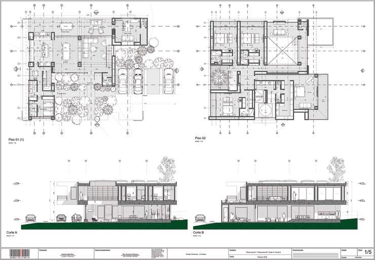 Arquitectura BIM: Casas campestres de estilo  por arquitektaria