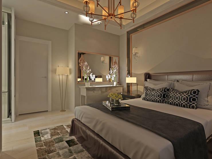 50GR Mimarlık – Küçükçekmece Yatak Odası :  tarz Yatak Odası