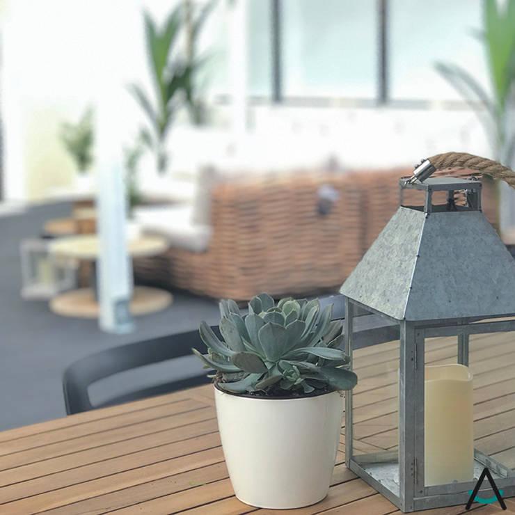 Proyecto Leroy Merlin: Jardín de estilo  de Estudi Aura
