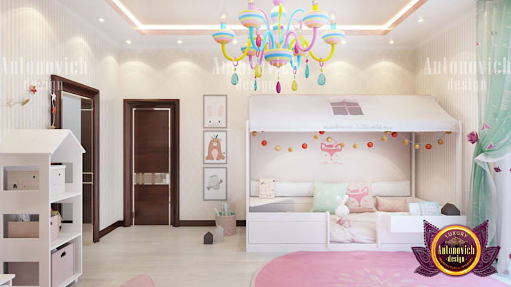 """Chic Girl's Bedroom Design: {:asian=>""""asian"""", :classic=>""""classic"""", :colonial=>""""colonial"""", :country=>""""country"""", :eclectic=>""""eclectic"""", :industrial=>""""industrial"""", :mediterranean=>""""mediterranean"""", :minimalist=>""""minimalist"""", :modern=>""""modern"""", :rustic=>""""rustic"""", :scandinavian=>""""scandinavian"""", :tropical=>""""tropical""""}  by Luxury Antonovich Design,"""