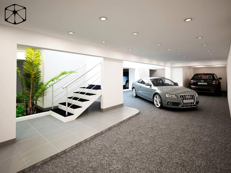 GARAJE: Garajes abiertos de estilo  por STUDIO ZINKIN