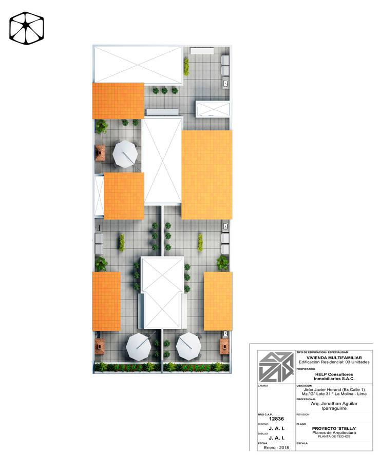 Dachterrasse von STUDIO ZINKIN