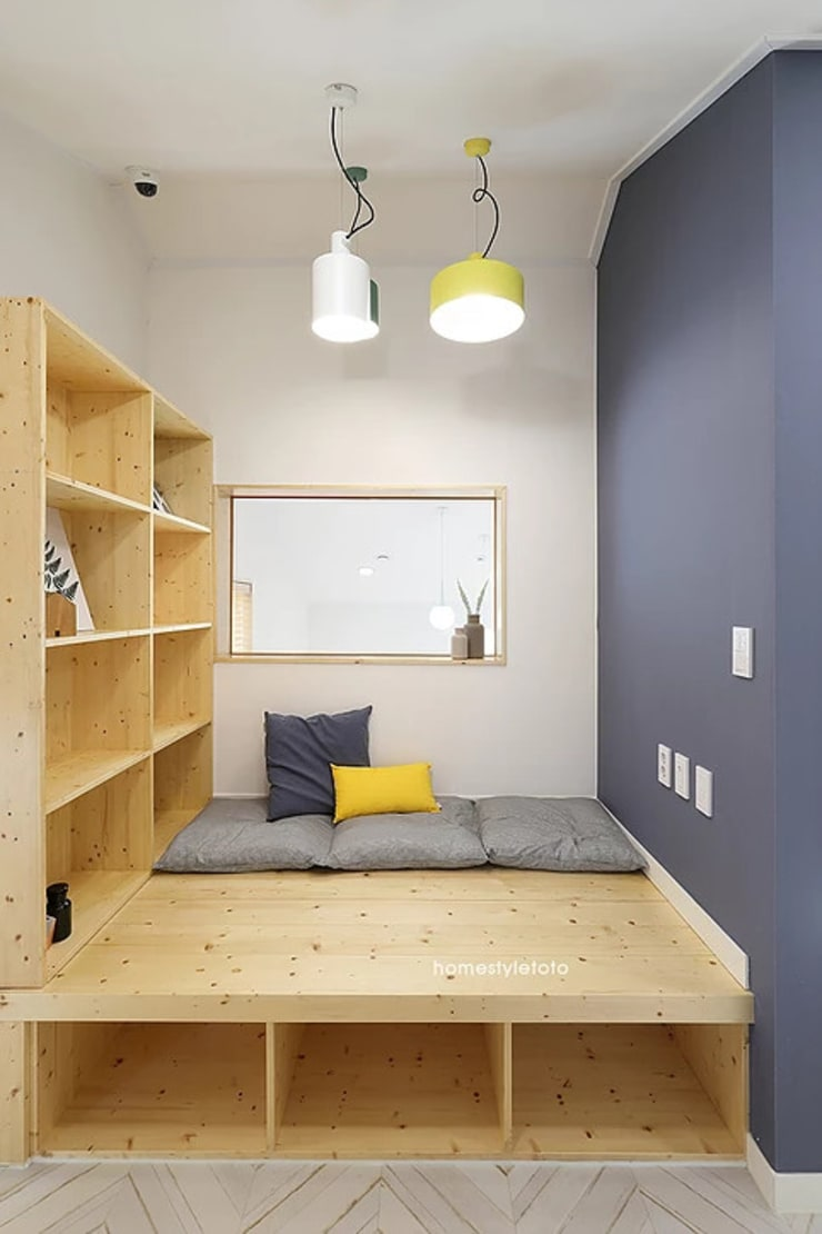 2층 툇마루: 주택설계전문 디자인그룹 홈스타일토토의  방