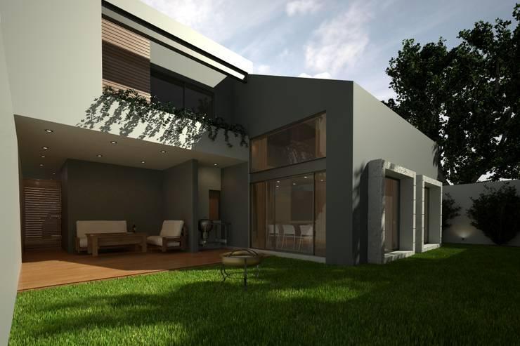 FACHADA TRASERA: Casas de estilo  por Xome Arquitectos