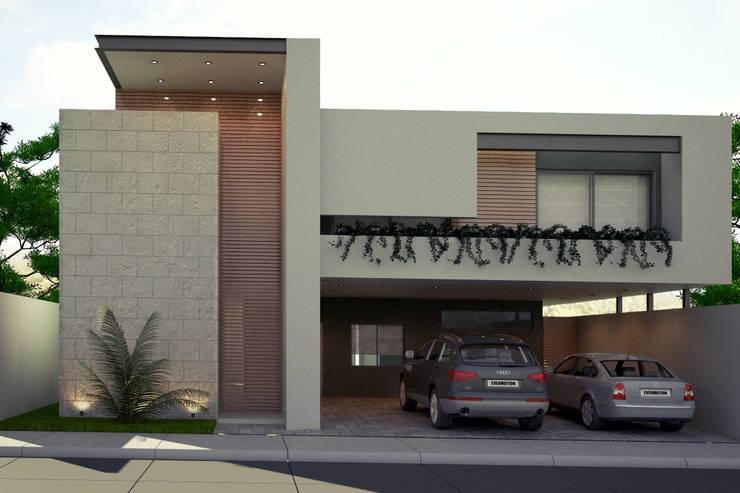 Projekty,  Domy zaprojektowane przez Xome Arquitectos