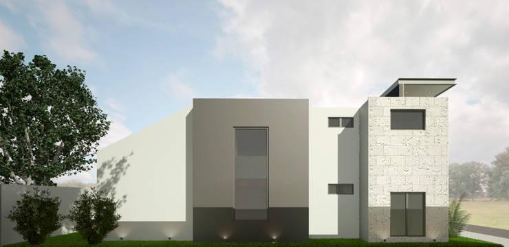 FACHADA LATERAL: Casas de estilo  por Xome Arquitectos