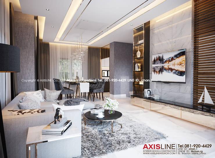 Living area : ออกแบบตกแต่งภายในบ้าน พร้อมรับเหมาครบวงจร (คุณปรีชา) :  ตกแต่งภายใน by บริษัทแอคซิสลาย จำกัด
