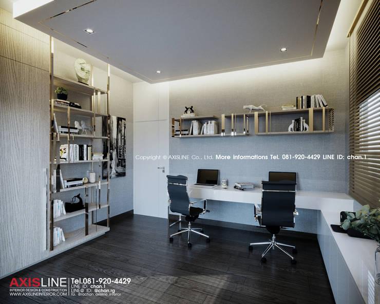 Working room : ออกแบบตกแต่งภายในบ้าน พร้อมรับเหมาครบวงจร (คุณปรีชา) :  ตกแต่งภายใน by บริษัทแอคซิสลาย จำกัด