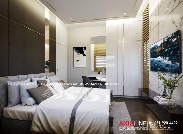 Bedroom : ออกแบบตกแต่งภายในบ้าน พร้อมรับเหมาครบวงจร (คุณปรีชา) :  ตกแต่งภายใน by บริษัทแอคซิสลาย จำกัด