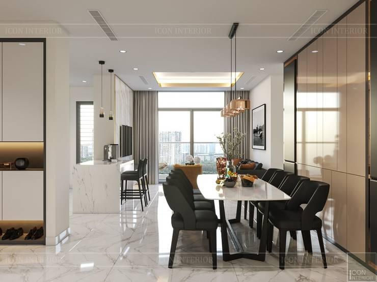 Thiết kế nội thất hiện đại tại căn hộ Landmark 4 – Khu đô thị Vinhomes Central Park:  Phòng ăn by ICON INTERIOR
