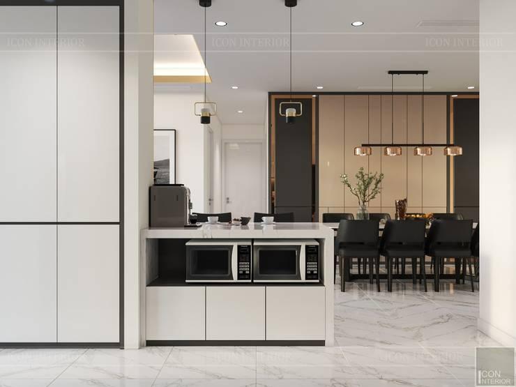 Thiết kế nội thất hiện đại tại căn hộ Landmark 4 – Khu đô thị Vinhomes Central Park:  Nhà bếp by ICON INTERIOR