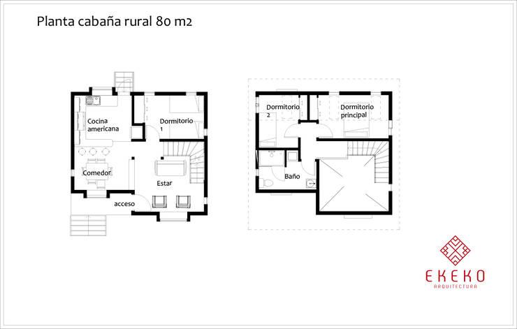 Planos de planta:  de estilo  por Ekeko arquitectura  - Coquimbo