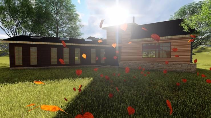 Rukaleufu: Casas unifamiliares de estilo  por Constructora Rukalihuen