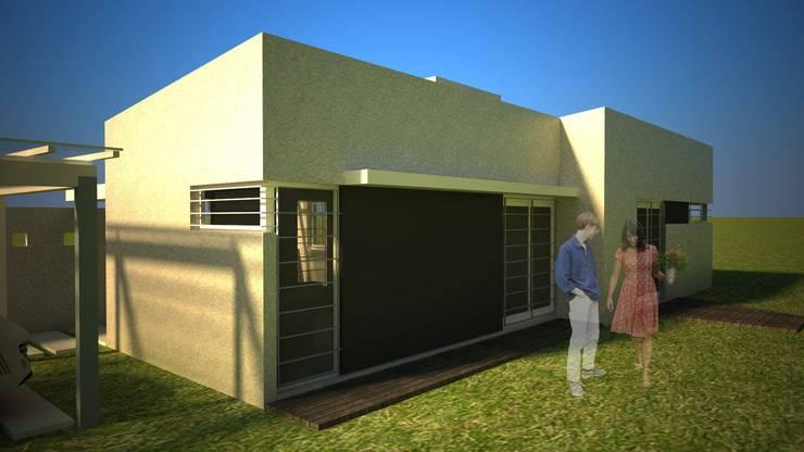 Maisons préfabriquées de style  par Arq. Germán Perez Biello, Minimaliste