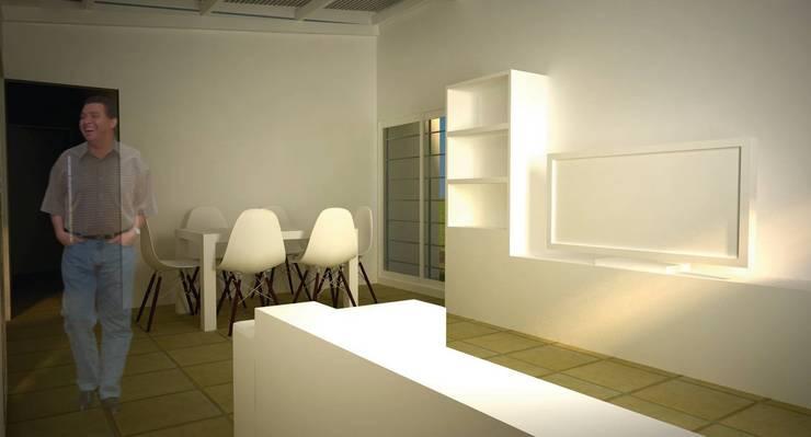 modulo comedor. render interior. Comedores de estilo minimalista de Arq. Germán Perez Biello Minimalista