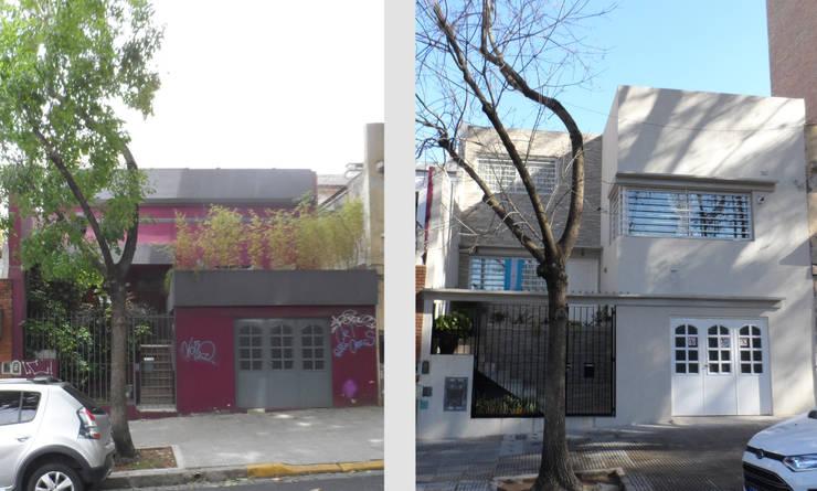 Casa Cuba - Antes y Después: Casas unifamiliares de estilo  por D4-Arquitectos,