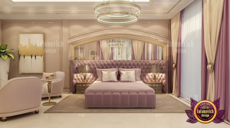 Incredibly Pretty Bedroom Interior:   by Luxury Antonovich Design