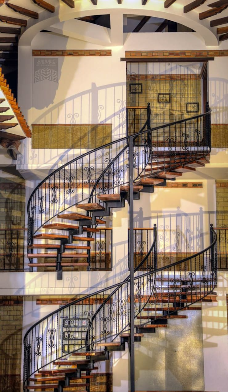 Escalera: Escaleras de estilo  por cesar sierra daza Arquitecto