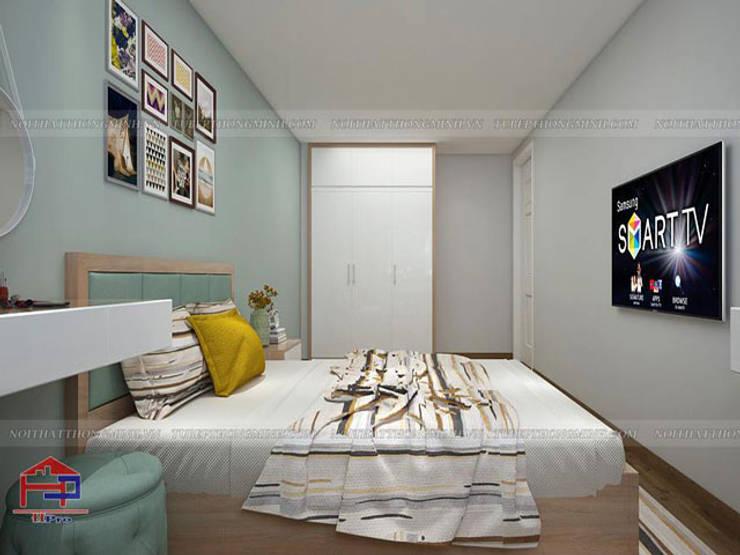 Thiết kế nội thất phòng ngủ nhà chị Hiền ở CC Ciputra:  Bedroom by Nội thất Hpro