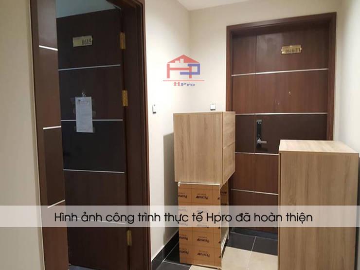 Hpro vận chuyển bộ tủ bếp laminate đến nhà chị Huyền ở Nguyễn Tuân:  Kitchen by Nội thất Hpro