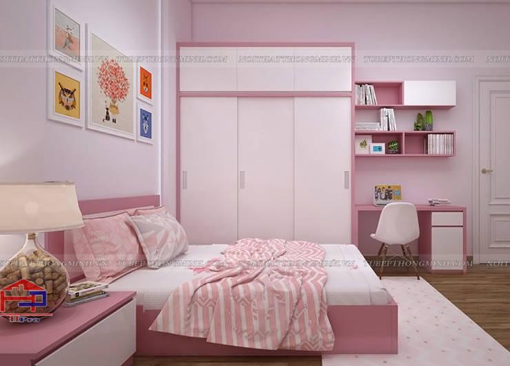 Ảnh thiết kế nội thất phòng ngủ bé gái nhà anh Toản tại Lạng Sơn:  Bedroom by Nội thất Hpro