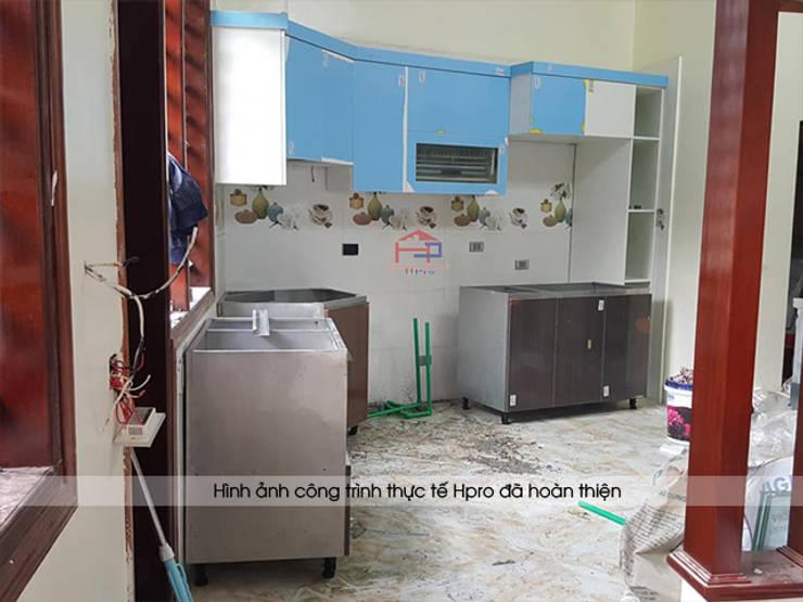 Hpro thi công tủ bếp acrylic cho nhà anh Toản ở Lạng Sơn:  Kitchen by Nội thất Hpro
