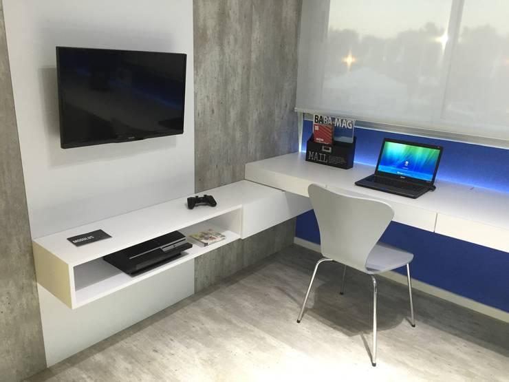 Dormitorio Adolescente : Habitaciones para adolescentes de estilo  por Modulus