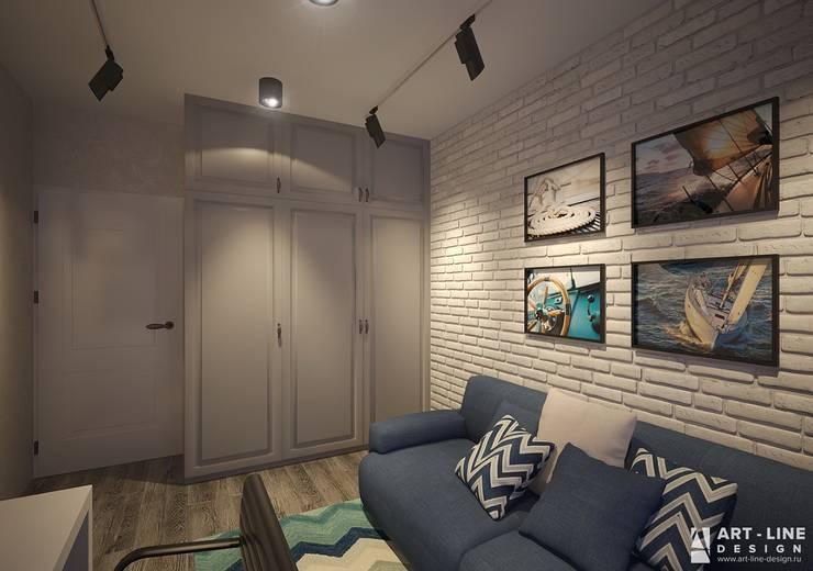 Гостевая Рабочий кабинет в стиле минимализм от Art-line Design Минимализм