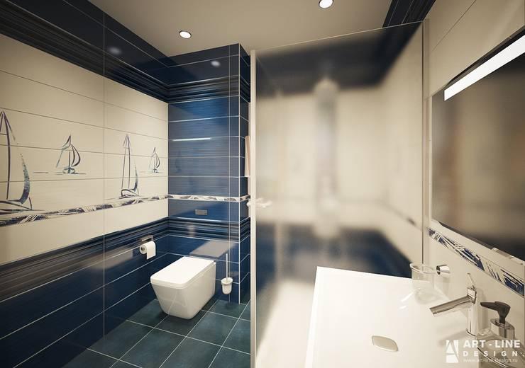 Ванная Ванная комната в стиле минимализм от Art-line Design Минимализм