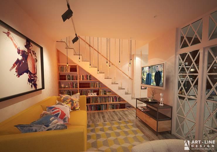 Гостиная на 1 этаже Гостиная в стиле минимализм от Art-line Design Минимализм