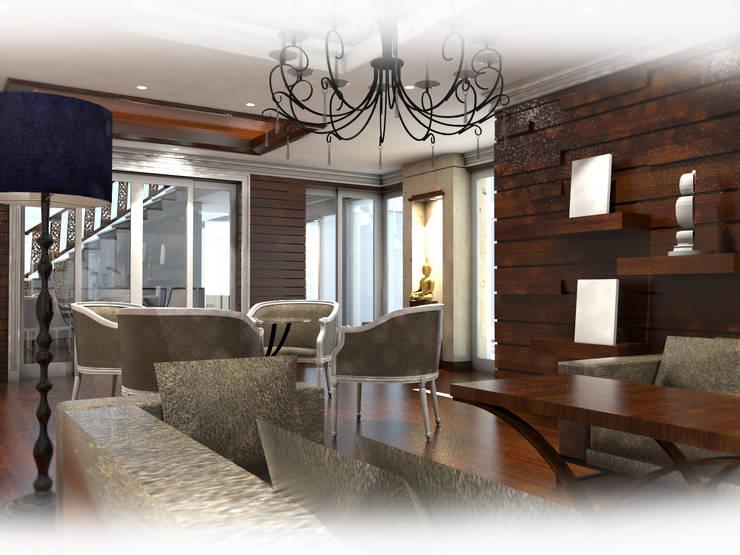 Project : ปรับปรุงและออกแบบตกแต่งบ้านพักอาศัย:  ตกแต่งภายใน by Hip and Classic Design Studio