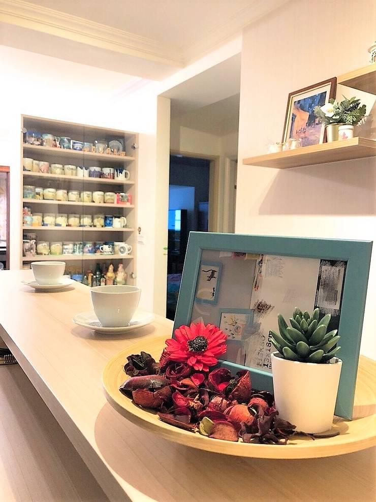 咖啡小吧檯:  玄關、走廊與階梯 by 藏私系統傢俱