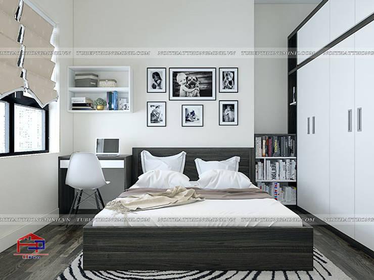 Ảnh 3D thiết kế nội thất phòng ngủ cho bé nhà anh Điệp ở Tố Hữu:  Bedroom by Nội thất Hpro