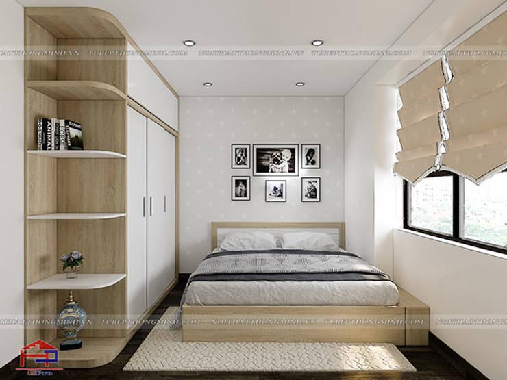 Ảnh 3D thiết kế phòng ngủ của bé nhà anh Thư ở HD Mon:  Bedroom by Nội thất Hpro