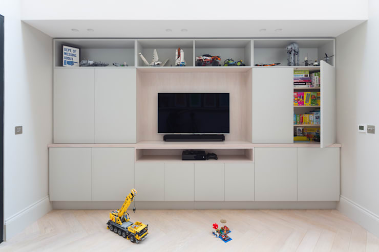 Kid's Room/Media Space de Shape London Moderno