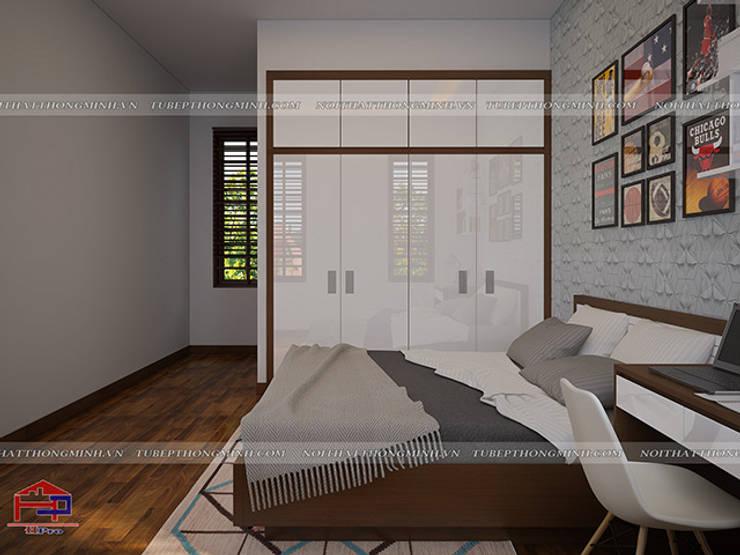Ảnh 3D thiết kế nội thất phòng ngủ bé trai nhà anh Năng ở Nam Định - view 3:  Bedroom by Nội thất Hpro
