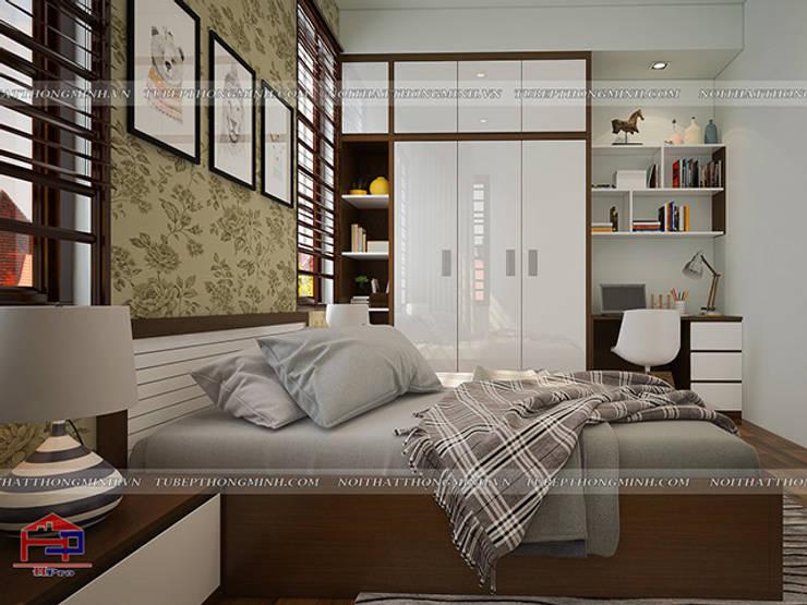 Ảnh 3D thiết kế nội thất phòng ngủ bé gái nhà anh Năng ở Nam Định:  Bedroom by Nội thất Hpro