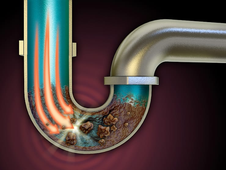 Debris and Dirt in Drain pipe:  Commercial Spaces by Informatics USA