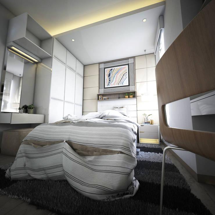 Padasuka Residence Bandung: Kamar Tidur oleh Maxx Details, Modern