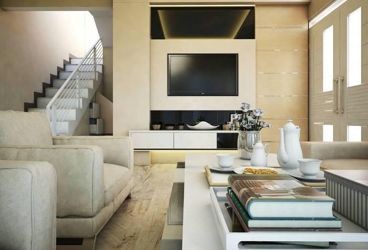 Ruang Keluarga: Ruang Keluarga oleh Maxx Details, Modern